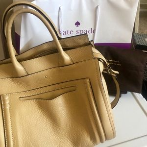 Kate Spade tan large leather satchel